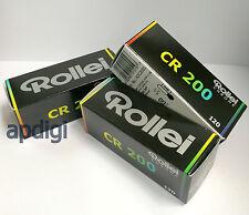 3 x Rollei CHROME CR200 CR 200 Digibase Pro Slide 120 Medium Format Color Film