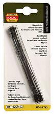 Proxxon 12pc Standard scroll saw blades with pins 28743 wood working / RDGTools