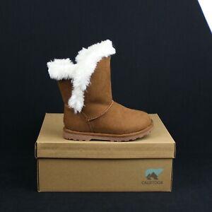CALISTOGA 100100 CHE Cake POP Chestnut Snow Boot Vegan Suede Fur Toddler