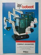 Bobcat Compact Excavators 6 pg Leaflet Brochure 1990s??