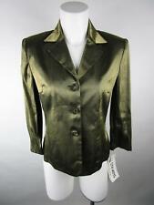VINTAGE Julie Stevens By Carol Escritor Women Gold Shoulder Pads Blazer Jacket 4