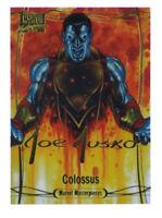 2016 Upper Deck Marvel Masterpieces Colossus Gold Signature Card #74 Joe Jusko