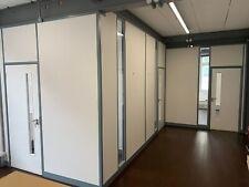 Dismountable Office Partitioning Inc Borrowed Lights Panels, 3 Doors & Frames