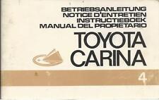 TOYOTA CARINA A12 Betriebsanleitung 1972 Notice d´Entretien Instructieboek .. BA