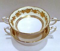 Bone China Soup Bowls, Made in England, Hammersley Fine China, Set of Bowls