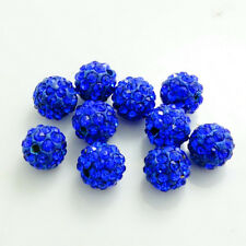 10pcs Quality Czech Crystal Rhinestones Clay Round Disco Ball Spacer Bead 8mm #1