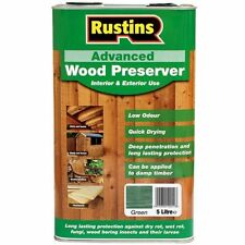 Rustins Quick Drying Advanced Wood Preserver Protector Green 5 Litre Low Odour