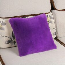 Faux Fluffy Fur Square Throw Plush Chair Living Room Home Pillow Case Cushions
