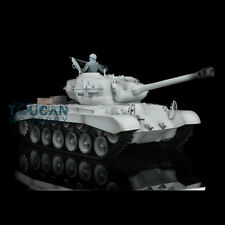 US Stock HengLong 1/16 Winter Snow Plastic USA M26 Pershing RTR RC Tank 3838