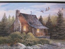 Log Cabin Wall Decor Sign rustic country style home picture hunting lodge lake