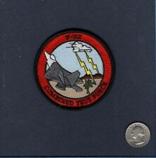 F-22 RAPTOR Combined Test Force USAF Lockheed Martin Fighter Squadron Patch