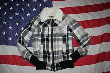 Fox Riders Plaid Bomber Jacket Size Medium: dressy/casual/cropped/work/top #5036