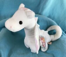 e2ca4e0edb5 Ty Beanie Baby MAGIC the white Dragon MWMT ERRORS Vintage stuffed Toy PVC  RARE