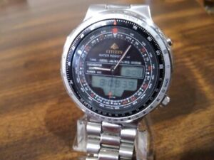 1989 Analog-Digital Watch CITIZEN  C080-088492- PLEASE READ!