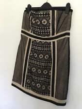 Rochelle Hulmes Guipore Lace Body Con Dress - Black/Nude - Size 16