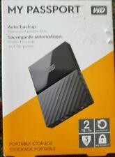 WD 2TB Black My Passport Portable HD - USB 3.0 - WDBYNN0010BBK-WESN