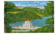 Portland, Oregon Vista House at Crown Point  used linen type postcard 1943