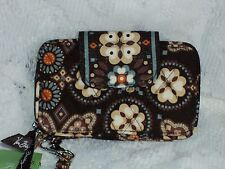 Vera Bradley Smartphone Wristlet in Canyon Zip-around Cotton Multi-Color $39