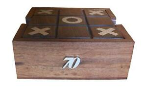 70th Birthday Wooden Tic Tac Toe Solitaire Game FREE ENGRAVING 532