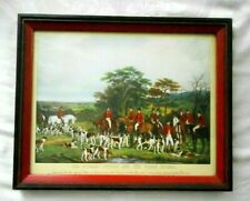 SIR RICHARD SUTTON AND THE QUORN HOUNDS FRAMED FOX HUNT PRINT FREDERICK BROML
