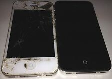Lot of 2 Apple iPhone 4 A11349 Black & White 8Gb Verizon For Parts