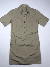 Michael Kors Safari Button Front Tunic Dress Khaki Beige • Italy • Size 4