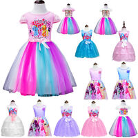 My Little Pony Girls Dress Princes Costume Summer Party Carton Clothing 3-9Y Lot