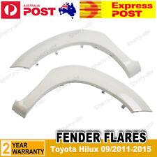 Front WHITE FENDER FLARES suit for TOYOTA HILUX SR SR5 2011-2015 W/Rubber 2 Pcs