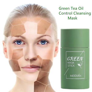 Green Tea Purifying Clay Stick Mask Anti-Acne Deep Cleansing Oil Skin Care