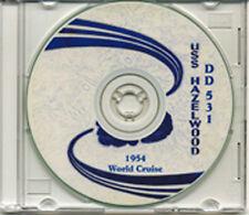 USS Hazelwood DD 531 1954 World Cruise Book on CD