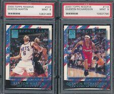 PSA 9 MINT NQ GRADED LOT 2000 TOPPS RESERVE NBA 101 118 KENYON MARTIN RICHARDSON