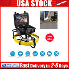 9Inch 164ft Pipeline Pipe Endoscope System Industrial Sewer Camera Video DVR 8GB