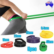 5pcs POWER Heavy Duty RESISTANCE BAND Gym Yoga LOOP Exercise Fitness Workout Set