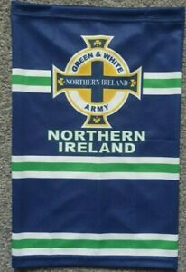 NORTHERN IRELAND SNOOD / FACE MASK  covering Green and white  army GAWA