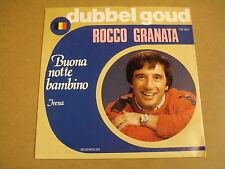 45T SINGLE TELSTAR DUBBEL GOUD / ROCCO GRANATA - BUONA NOTTE BAMBINO