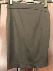 Warehouse Black Bandage pencil Skirt Size 8 Fast Free Postage