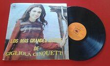 GIGLIOLA CINQUETTI *Los Mas Grandes Exitos* 1974 LP Venezuela I POOH PATTY PRAVO