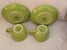 Retired Fiestaware Chartreuse Coffee Cup Or Teacup And Saucer Fiesta Set Of 2