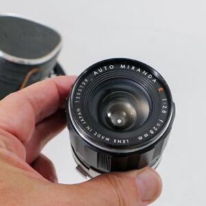 Miranda 28mm  E f2.8 lens with w/OEMhood and cases  Miranda Sensorex EE