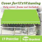 12 x 10 ft  Canopy COVER Replacement Outdoor Manual Retractable Sunshade Awning