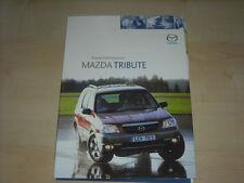 56720) Mazda Tribute Pressemappe 2001