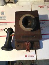 Antique Stromberg-Carlson early telephone Oak Wall Phone Original