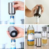 Magnetic Automatic Beer Bottle Cap Opener Stainless Steel Push Down Beer Opener
