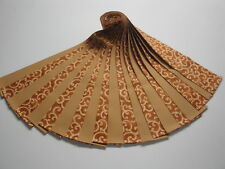 """Jelly Roll-Gold Scrollwork on Butterscotch B/G-20-2-1/2"""" x 44"""" Strips"""