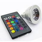 RGB MR16 3 Watt LED Birne Farbwechsel KÜCHE Glühbirne + Fernbedienung WOHNZIMMER