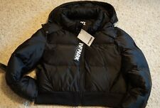 IVY PARK BLACK CROPPED HOODED Puffer Coat, WN size L, retail $200 NWT