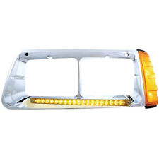 19 AMBER LED FREIGHTLINER FLD  DRIVER SIDE HEADLIGHT BEZEL WITH TURN SIGNAL
