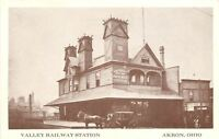 Akron Ohio~Valley Railway Station~1910 View~1970s Reprinted Postcard