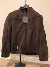 Dainese Black Hawk Leather Jacket Dark Brown 56 EU
