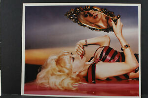 """Blonde with Mirror Pin Up  - Agfa Paper- 8x10"""" Photo Print - Vintage L1146J"""